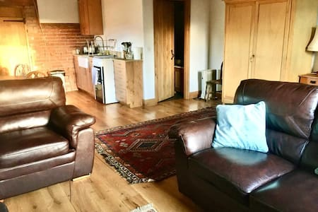 Large open plan studio in converted barn