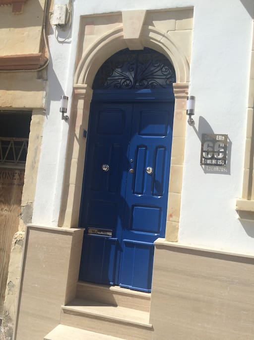 Original Old Maltese door  wood work with original handles and limestone works ,all in perfect use