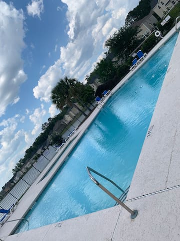 4-6 feet community pool located about 2 minutes walk or drive