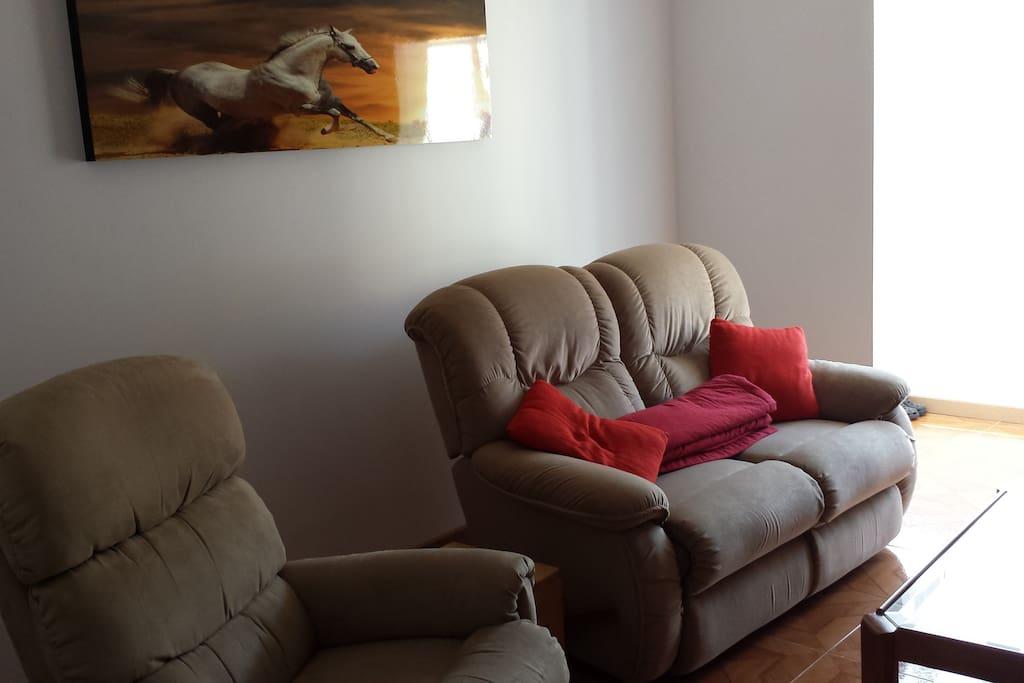 Sala de estar son sofas de relax