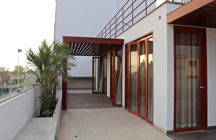 Departamento suite bien equipado, San Borja