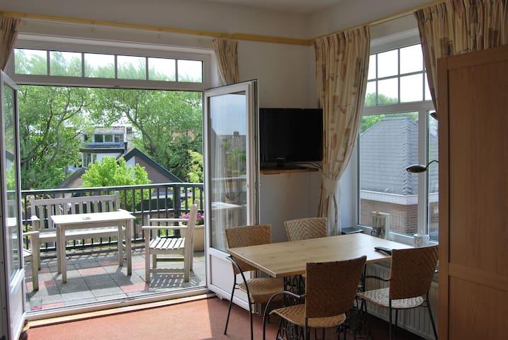 Ruime lichte Studio (studio 4) met zonnig balkon - Zandvoort - Appartement en résidence