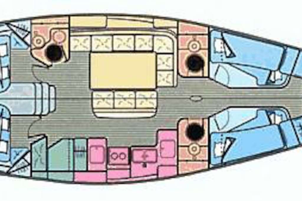 Layout of Yacht Tina