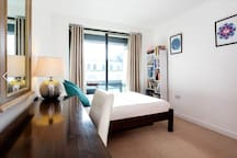 Your room - clean linens and towels provided, as well as a hair dryer