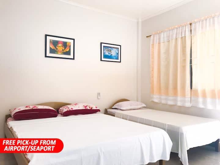 CLEAN NATIVE ROOM near ALONA BEACH (RM11)