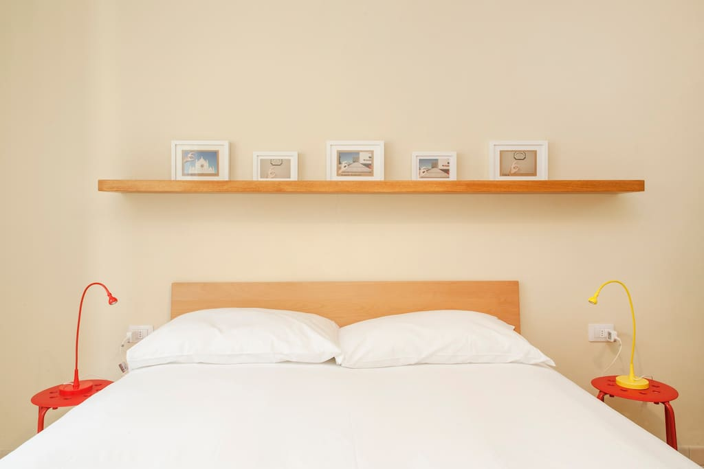 The Bedroom - The comfortable double bed & some details