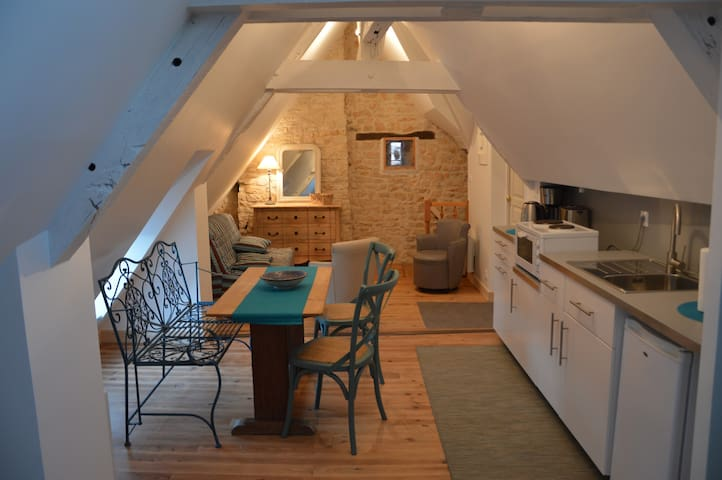 Cosy studio apartment in historic Vezelay - Vézelay - Lägenhet