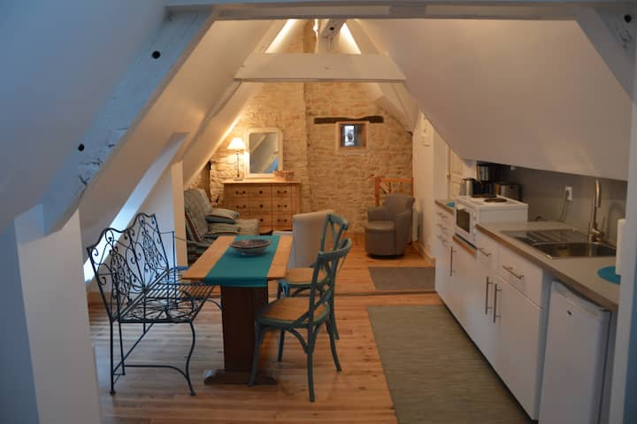 Cosy studio apartment in historic Vezelay