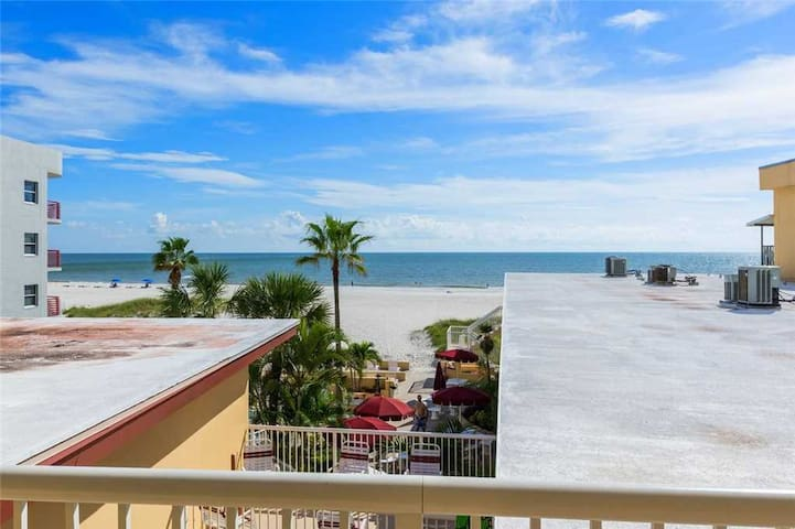 Gulf Views From Covered Balcony - Nice Efficiency - Free WiFi - Surf Song - #332 Surf Song Resort