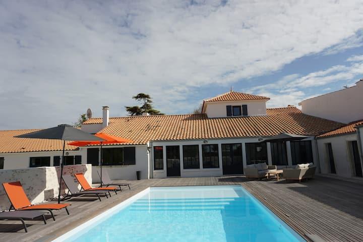 LA CAYENNE, villa de charme à 2 pas de l'océan