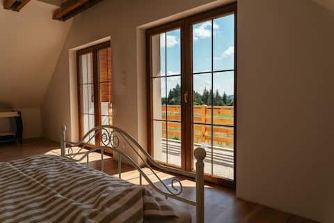 Brand new country house at the foot of Sleza
