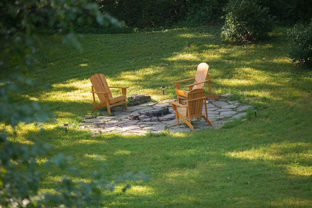 Secluded, relaxing fire pit. :)