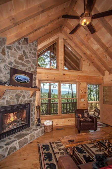 Floor to ceiling windows offered in the great room