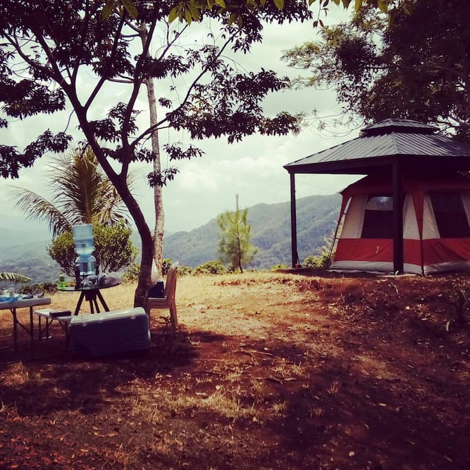 gazebo at campsite