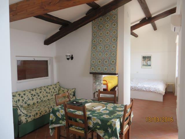 apartment in villa, huge park, 5 people - trevignano romano