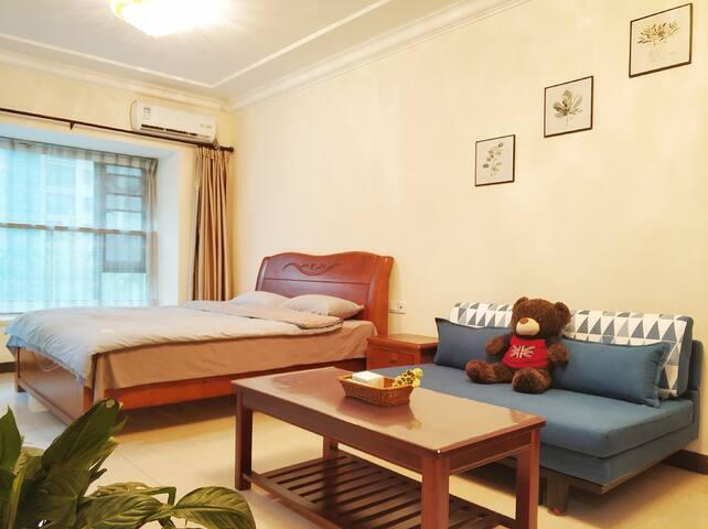 [海舍·启点]南通启东·恒大海上威尼斯·海蓝民宿180大床房·可加沙发床