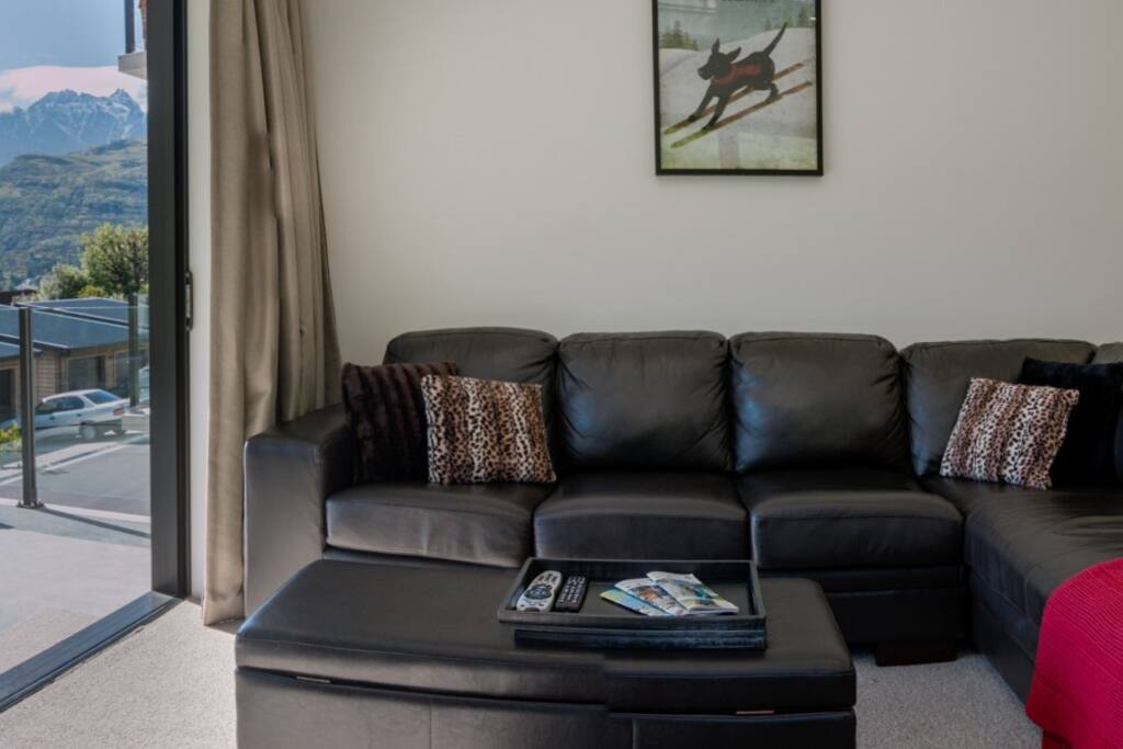 Comfortable corner couch in the lounge