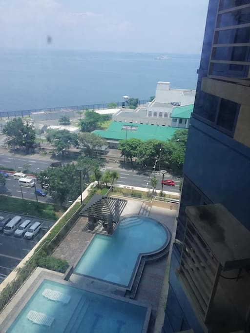 Ariel View Swimming Pool, Bay View and US Embassy