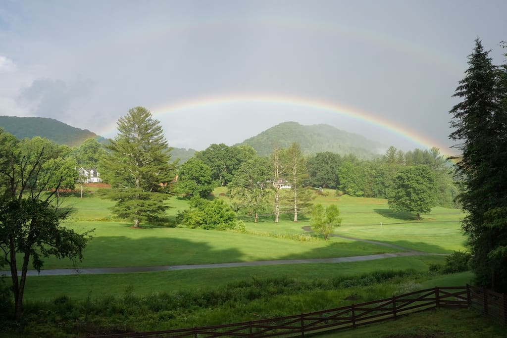 Lucky Rainbow over the Mountains!