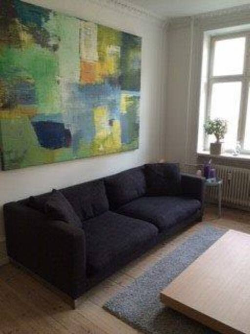 Couch for relaxing and watching  televison