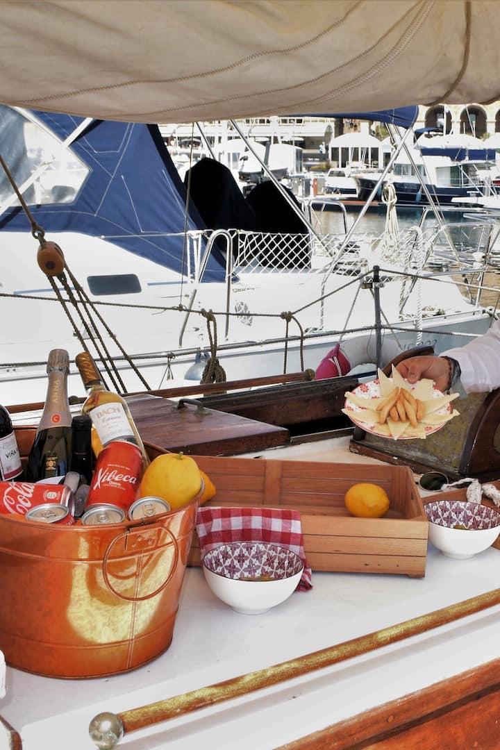 Appetizer Tapas  & Rioja wine onboard