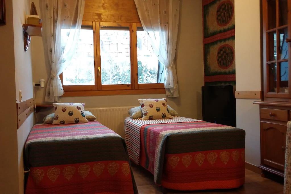 Salón-dormitorio muy acogedor