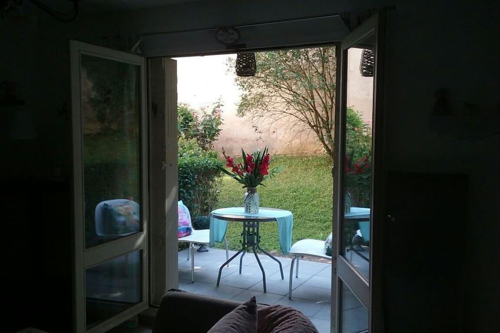 Accès terrasse du salon