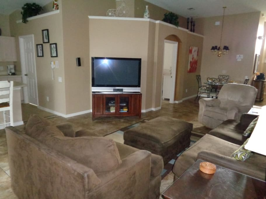 Couch, Furniture, Chair, Entertainment Center, Home Theater