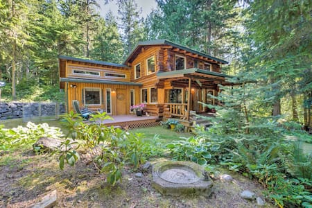 Rustic Sequim Cabin w/ Fire Pit & Forested Views!