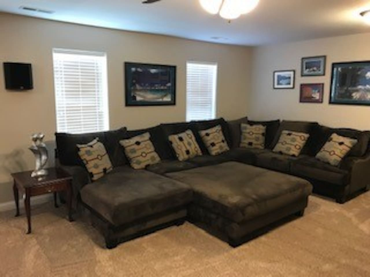 Large Sectional for plenty of seating in living area