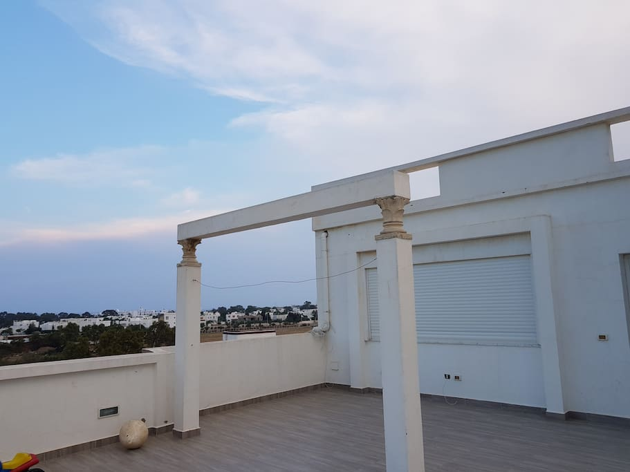terrasse vue coté hôtel SAVANA hammamet sud