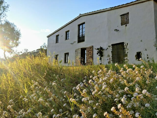 Tipical catalan mountain seaview country house