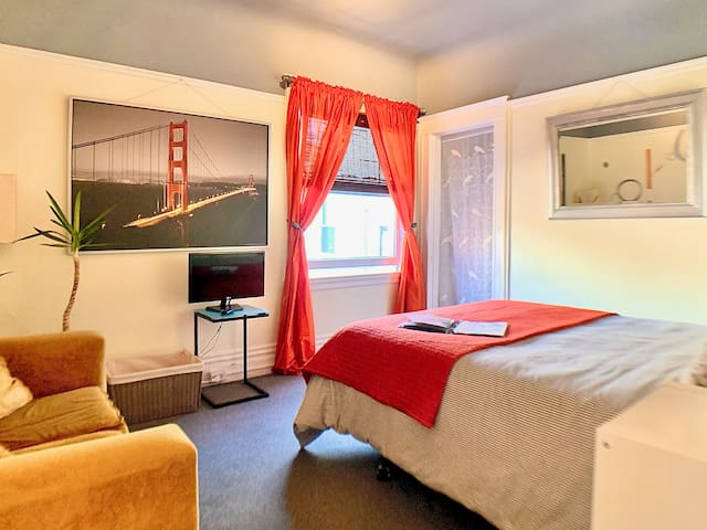 Cozy room in spacious apartment in the Castro