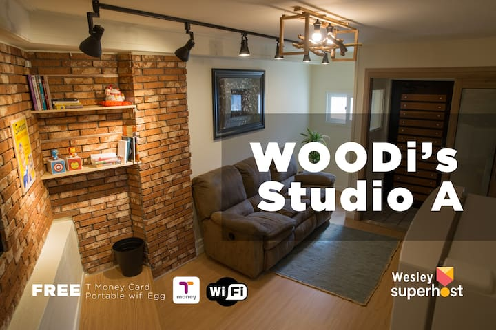 [Woodi's Studio A] Myeong-Dong(house rent)