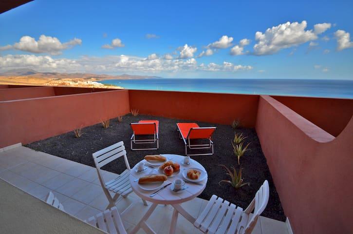 Apartament PARAISO 2 basen panoramiczny widok WiFi - Pájara - Lägenhet