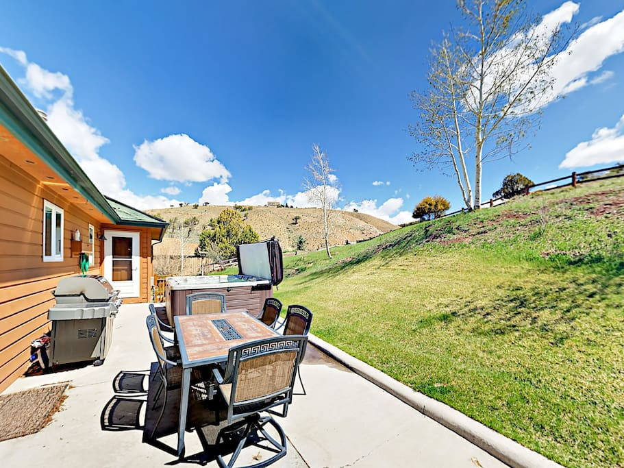 Entertain on the patio equipped with a grill and al fresco dining.