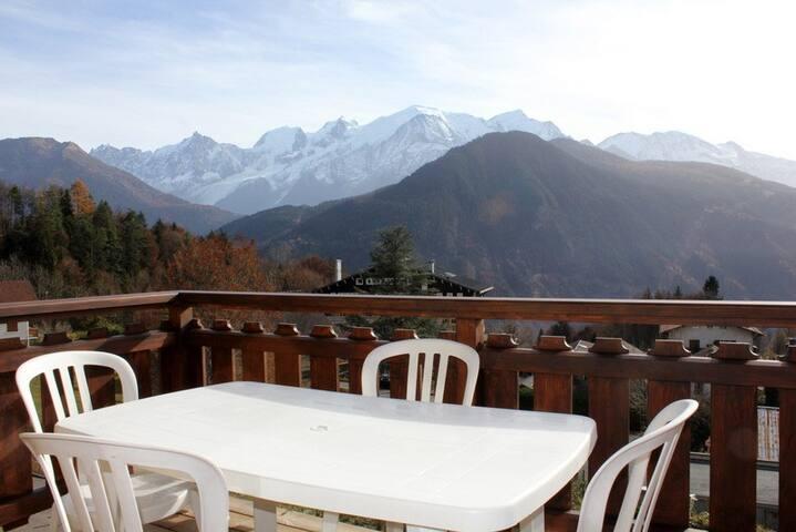 Appartement face au Mont-Blanc 6 personnes