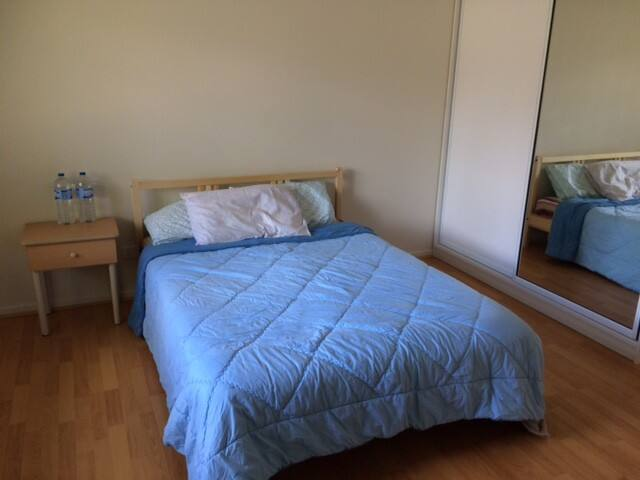 Specious, clean, private, bright, and airy room
