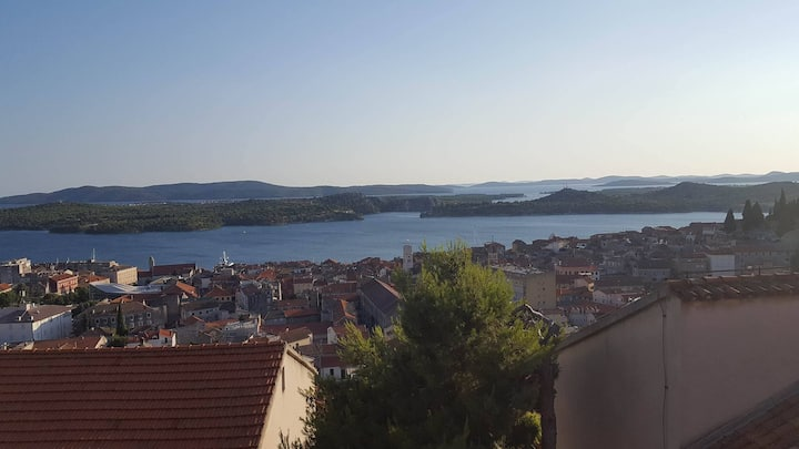 Rooms Sara-Sibenik archipelago view A
