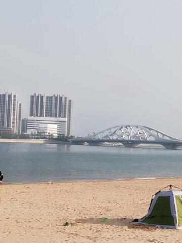 东方影都融创茂/万达茂万达星光岛主题日租二/靠近金沙滩/海景房