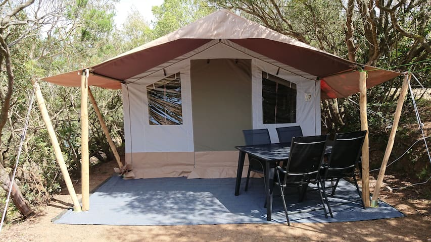 Safari Tent, walking distance of 2 great beaches