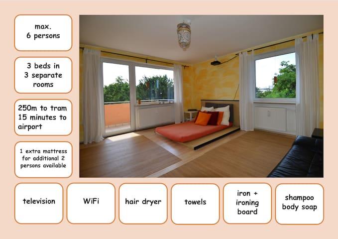 geräumiges 3-Zimmer City Apartment - freies WLAN - Nürnberg - Wohnung