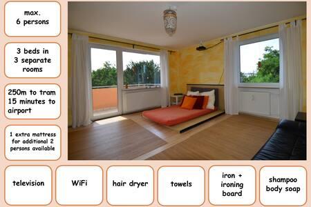 spacious 3 room apartment  - free WiFi - Nürnberg - Apartamento