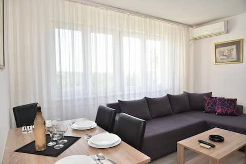 Apartamento de estacionamiento gratuito de 1 dormitorio iluminado por el sol