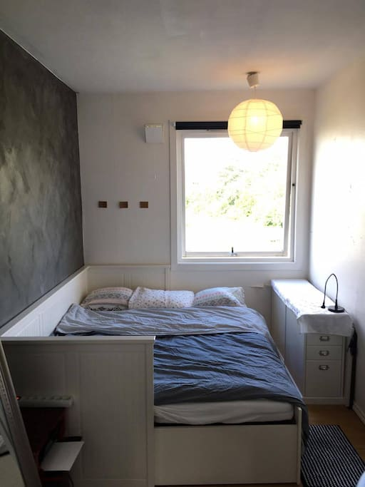 The bedroom with space for two people