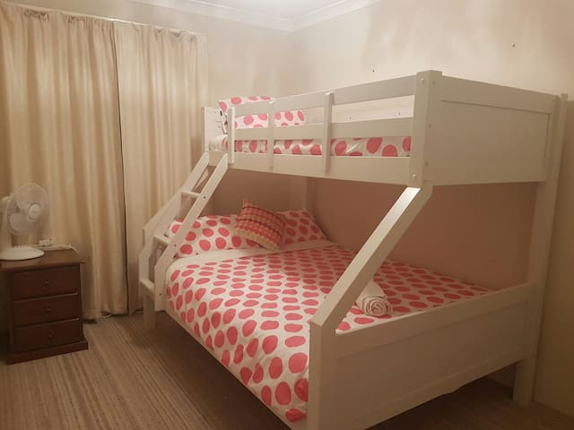 COMFORTABLE DOUBLE AND SINGLE BED