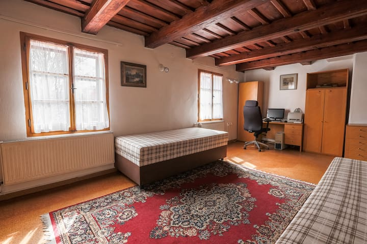 Room with Office near to Charles Bridge