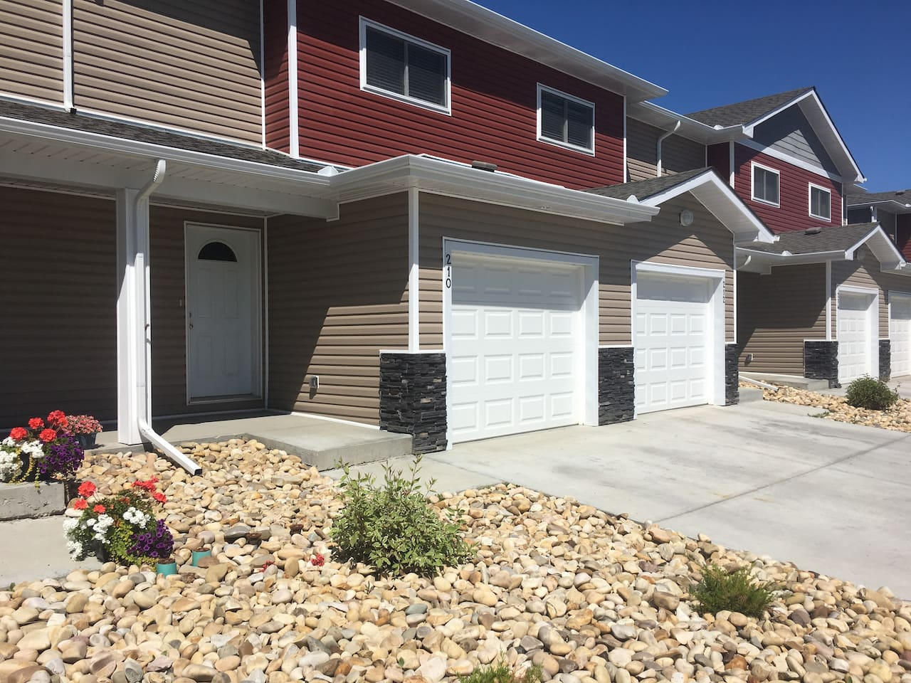 Our homes come equipped with garage access and private driveway parking.