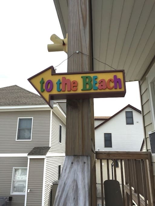 As you walk up the stairs, you are reminded that the beach is only a few blocks away!