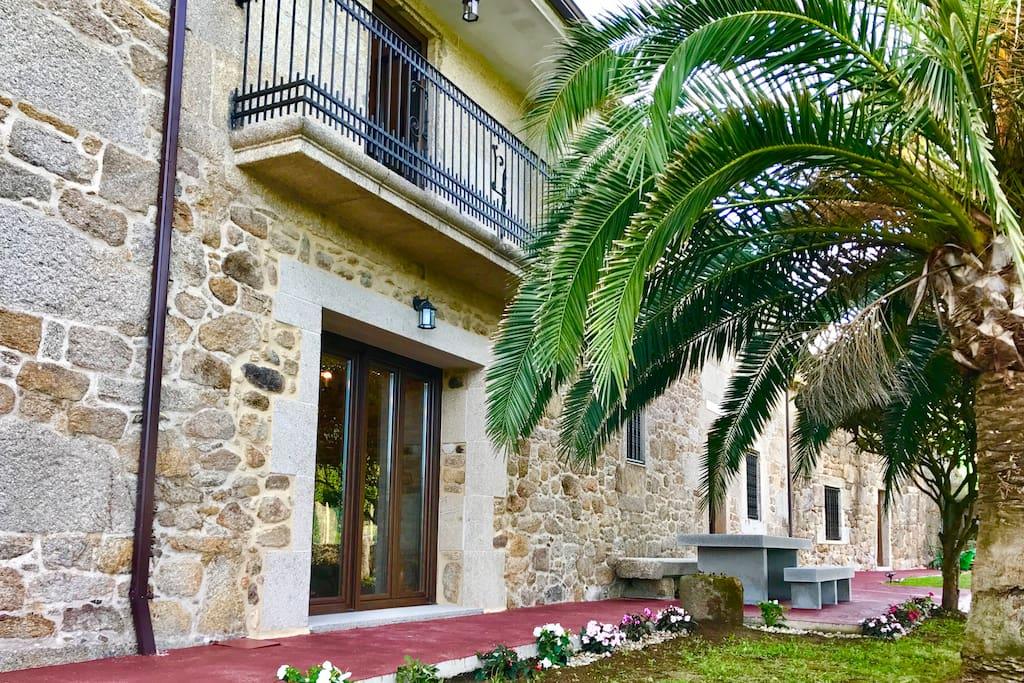 Casa de horta casa rural con piscina 12 personas - Apartamentos con piscina en galicia ...